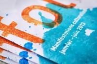 Détail de la couverture de la brochure des Manifestations culturelles de la BCU Lausanne janvier-juin 2013